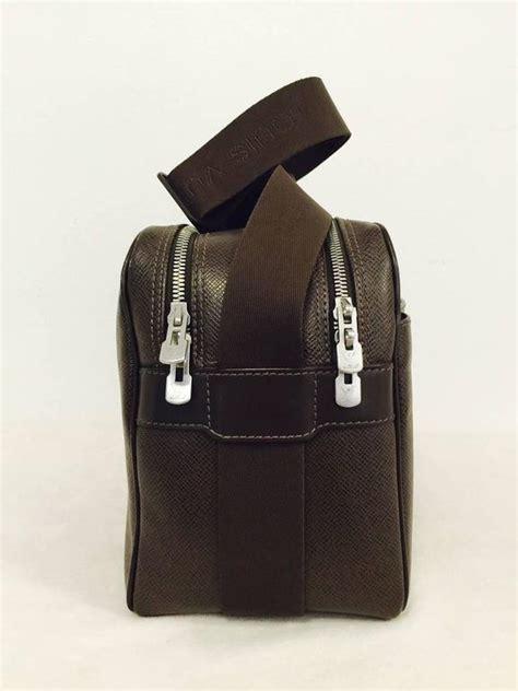 luxurious louis vuitton taiga acajou reporter cross body bag pm  sale  stdibs