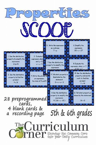 Math Properties Scoot Corner 5th Operations Algebraic