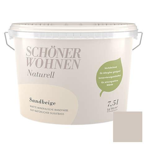 Schöner Wohnen Beratung by Sch 246 Ner Wohnen Wandfarbe Naturell Sandbeige 7 5 L Matt