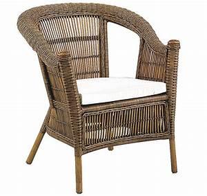 Coussin Fauteuil Rotin : fauteuil patti en rotin avec coussin en tissu ~ Preciouscoupons.com Idées de Décoration