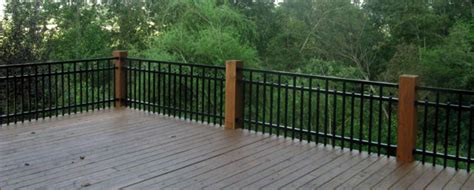 Wood Porch Railing Systems by Can Aluminum Fence Material Be Used As A Deck Or Balcony