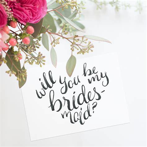 calligraphy bridesmaid card  images bridesmaid