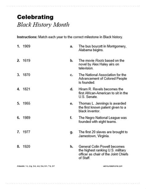 black history timeline milestones life