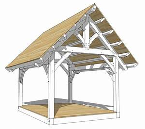 12x16 King Post Truss Plan - Timber Frame HQ