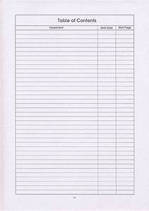 Best Photos of Blank Table Of Contents - Blank Table of ...
