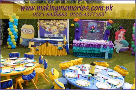 minions little mermaid making memories kids birthday party designers