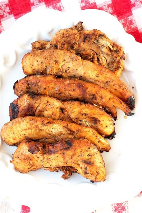 Spicy Honey Grilled Chicken Tenders - Miss in the Kitchen