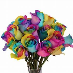Neon Tie Dye Rainbow Roses