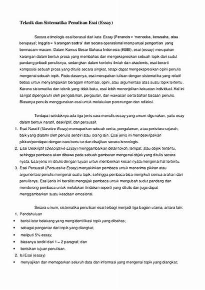 Essay Esai Penulisan Sistematika Dan Teknik Academia