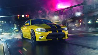 Hellcat Charger Dodge Srt Cars Night Wallpapers