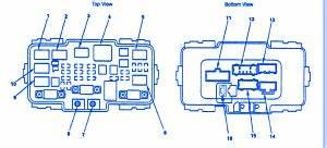Honda Crv 2008 Central Fuse Box  Block Circuit Breaker