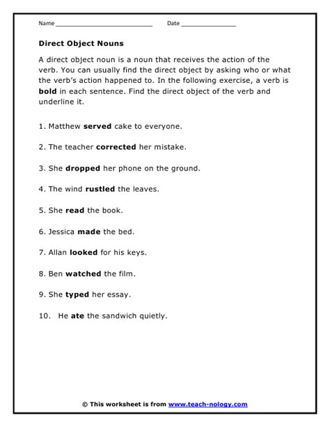 all worksheets 187 direct and indirect objects worksheets