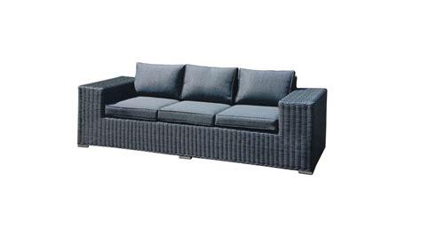 canape exterieur achetez votre canapé d 39 extérieur en résine tressée gris