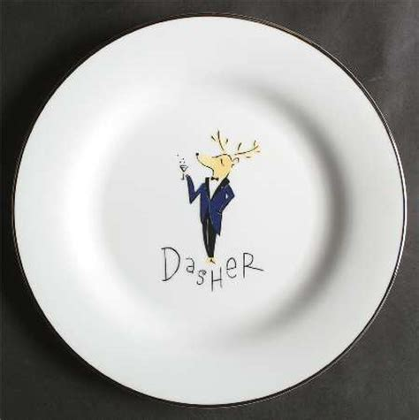 pottery barn reindeer plates pottery barn china reindeer at replacements ltd page 2