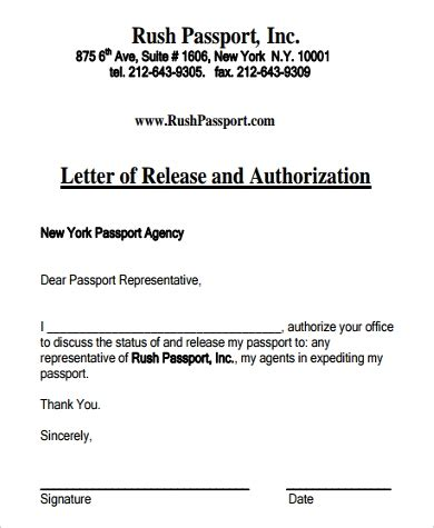 authorization letter samples