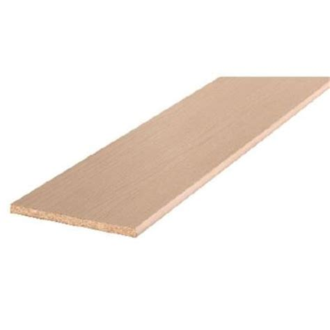 bullnose particle board shelving board common 3 4 in x