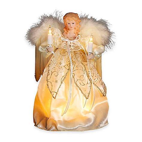 kurt adler angel tree topper kurt adler 9 inch 10 light tree topper in gold and ivory bed bath beyond