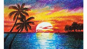 Landscape Sunset To Draw Landscape Drawing For Beginners ...