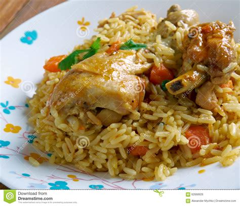 cuisine arabe chicken machboos stock photo image of sauce