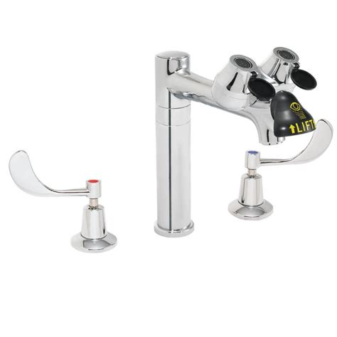 Eyewash Faucet Home Depot by Speakman Eyesaver 8 In 2 Handle Laboratory Faucet With