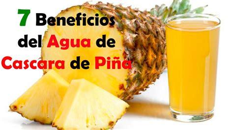 Agua de Cascara de Piña 7 Beneficios para la Salud YouTube