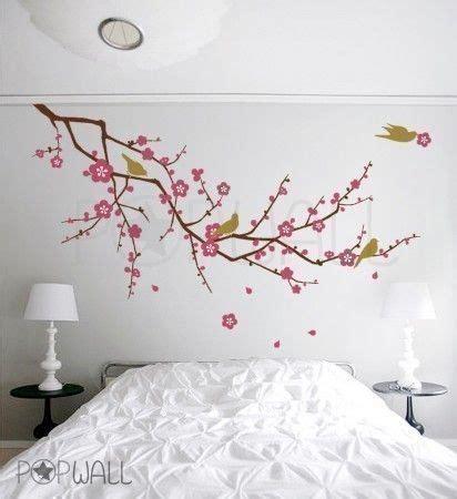 tree birds flower cherry blossom tree branch wall