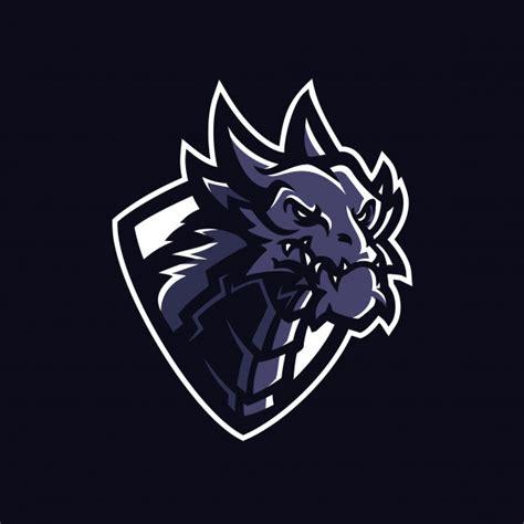 dragon esport gaming mascot logo template vector premium