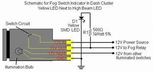 Taco Fog Switch Illumination Dimming