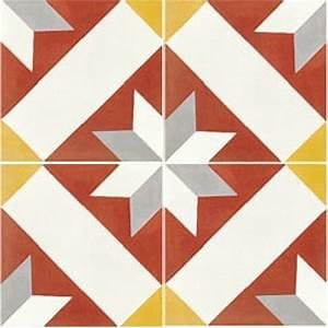 Carreaux De Ciment Rouge : carreaux de ciment d cor formes g om triques 20x20 cm ~ Melissatoandfro.com Idées de Décoration