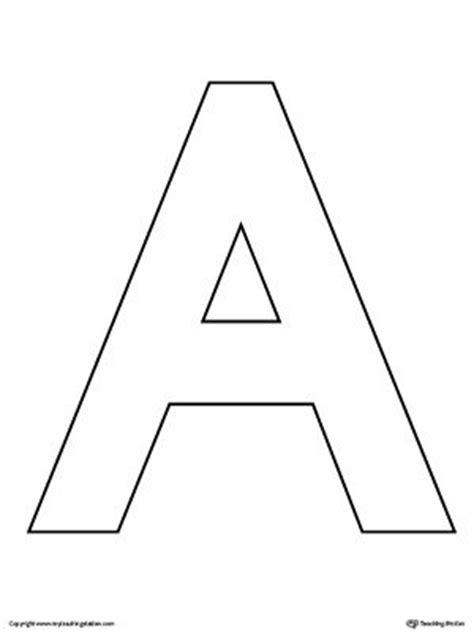 free letter templates uppercase letter a template printable alphabet letters 21856 | 9cc78d6c7d806885a29f7a057a74e409 alphabet worksheets kindergarten worksheets