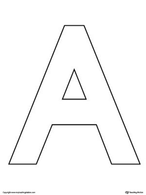 Uppercase Letter A Template Printable  Crafts, Activities