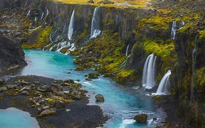 Iceland Desktop Phone Android Wallpapers Sigalda Falls