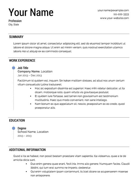Resume T by Free Resume Templates From Resume