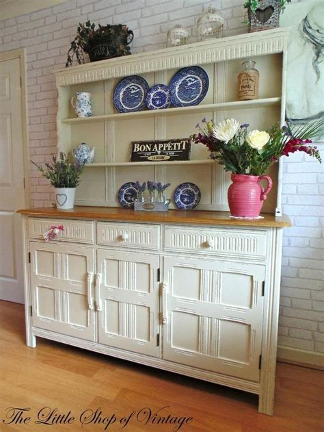 preloved shabby chic furniture gorgeous ercol oak welsh dresser sideboard cupboard cabinet shabby chic f b ercol ideas