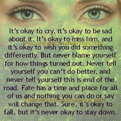 Its Ok To Be Sad Sometimes Quotes