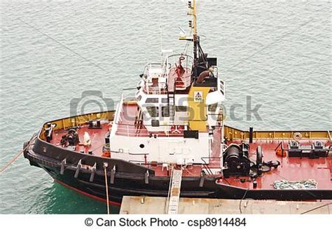 Tugboat Deck by Stock Photo Of Tugboat With Deck To Pier A