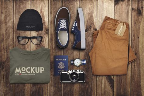 travel  clothes mockup  psd file