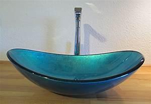 Waschbecken Oval Aufsatz : nero aufsatz glas waschbecken blau oval ~ Orissabook.com Haus und Dekorationen