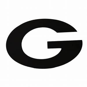 "6.5"" Black Block Print Letter: G [AB207102] - CraftOutlet.com  G"