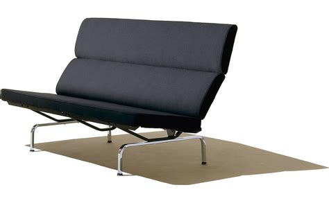 Eames Sofa Compact Knockoff by Eames 174 Sofa Compact Hivemodern Com