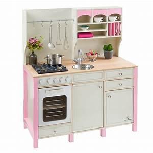 Kinderkuche aus holz salvia creme rosa musterkind for Kinderküche aus holz