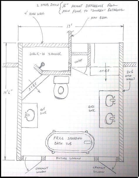 bathroom design layout layout room