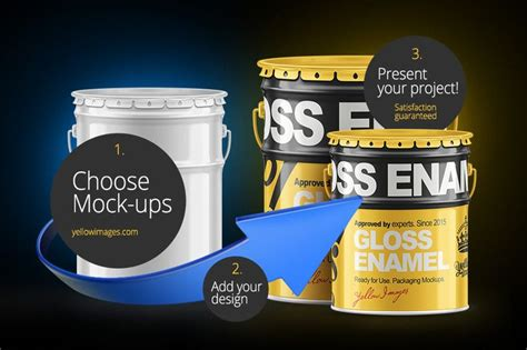 ✓ free for commercial use ✓ high quality images. Paint Bucket Free Mockup