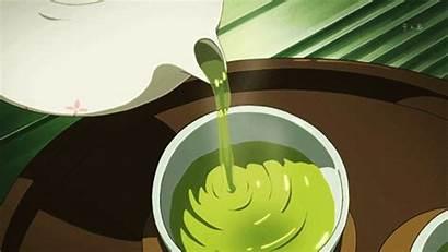 Tea Anime Aesthetic Gifs Cartoon Japanese Animation