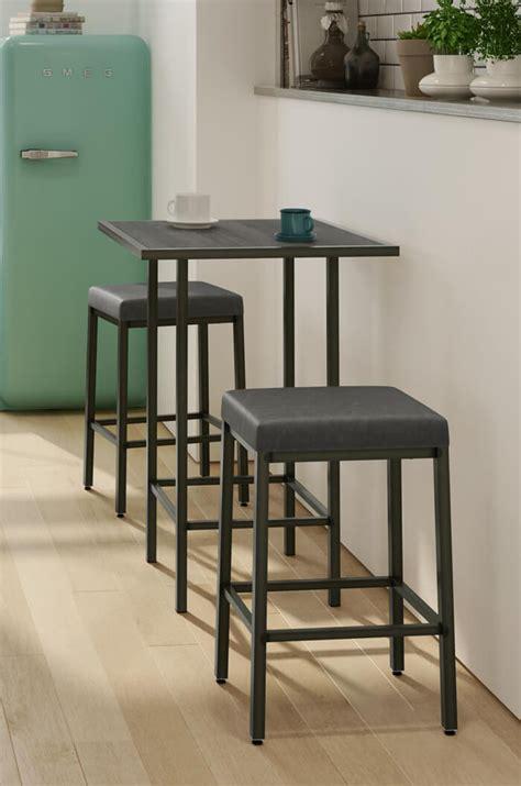 amiscos bradley narrow depth backless modern stool  shipping