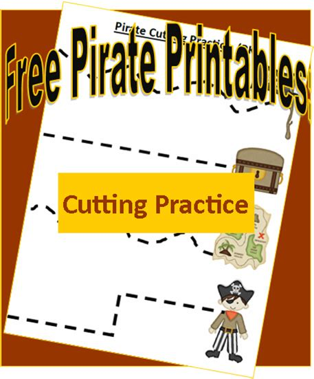 pirate printables cutting practice preschool cutting 411 | e7155298f3a87e36a2296cdfca1e7194
