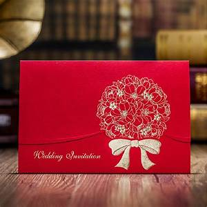 Chinese red marriage invitation card luxury 2015 new for Blank chinese wedding invitations