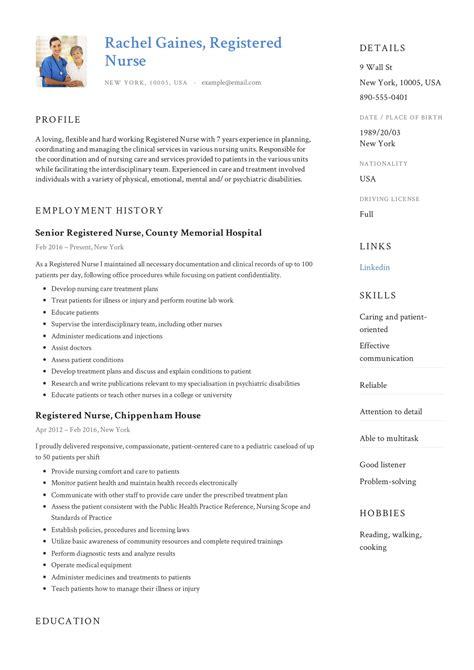 registered nurse resume sample writing guide