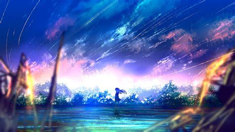 2560x1440 Anime Wallpaper - 2560x1440 anime falling scenic