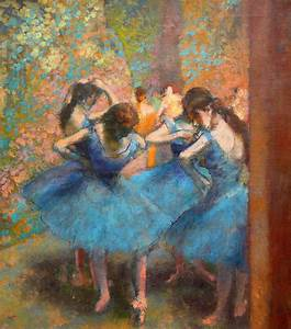 Blue Dancers by Edgar Degas - ArtinthePicture.com